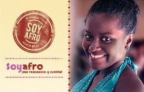 Mujer joven afromexicana participa en campaña