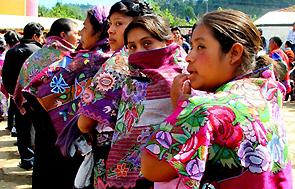 Mujeres de la etnia tsotzil en Chiapas.