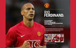 Rio Ferdinand, jugador del Manchester United.