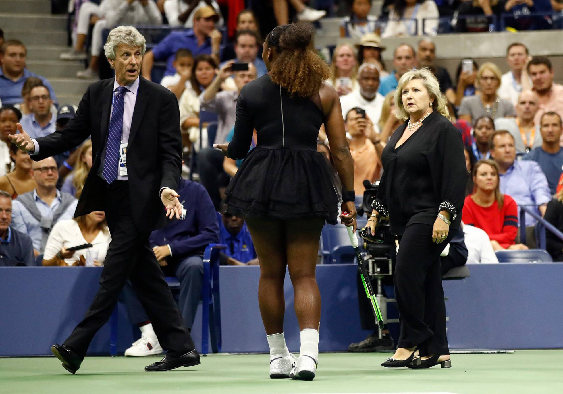 Foto de La Tenista Serena Williams reclamando