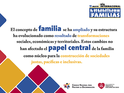Imagen alusiva al día internacional de las familias