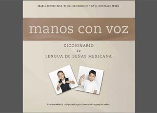 Portada del diccionario con dos ni�os que usan la lengua de se�as mexicana.