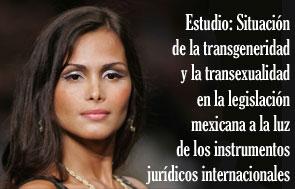 Rostro de una mujer transexual, con la leyenda ESTUDIO: Situaci�n de la transgeneridad y la transexualidad en la legislaci�n mexicana a la luz de los instrumentos jur�dicos internacionales