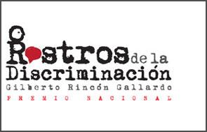 Logotipo del premio Rostros de la discriminaci�n.