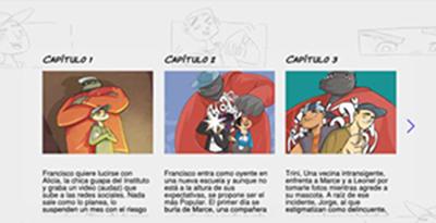 Imagen que muestra el cómic digital de la serie Yo Soy Yo