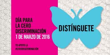 Mariposa azul, símbolo del Día Internacional para la Cero Discriminación
