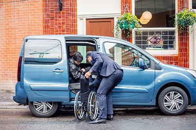 Foto del servicio de asistencia para personas con discapacidad de uber
