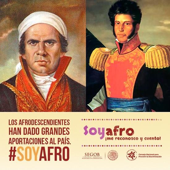 José María Morelos y Vicente Guerrero, figuras de la Independencia que son afrodescendientes.