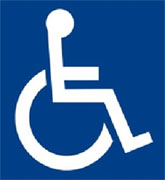 Logotipo Universal que identifica a las personas con discapacidad.