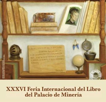 Cartel de la Feria Internacional del Libro del Palacio de Minería 2015