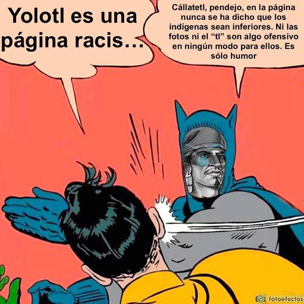 Figuras de Batman y Robin, con el argumento de que sólo es humor y no racismo.