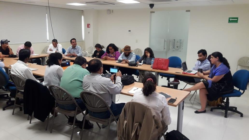 Foto del taller que se dio en Tuxtla a reporteros