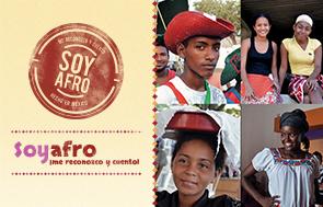 Imagen con cuatro personas afrodescendientes que forman parte de la campaña Soy Afro.