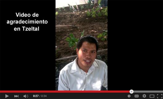Video de agradecimiento de Floriberto Nuñez en tzeltal.
