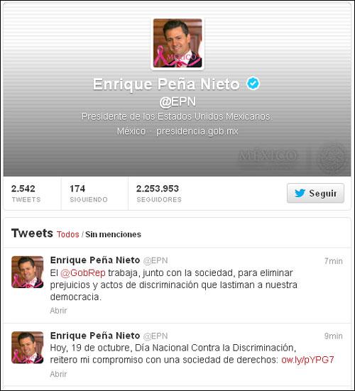 Twits del C. Presidente Enrique Peña Nieto.
