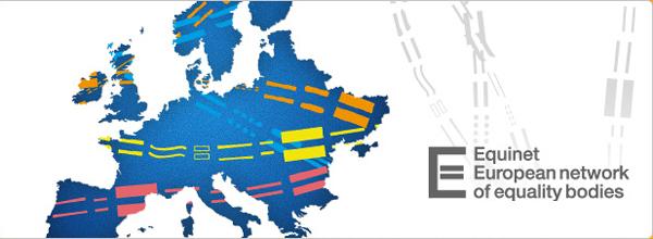 Logotipo de Equinet y mapa de Europa, del sitio Equinet.
