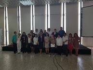 Foto panorámica de asistentes al curso