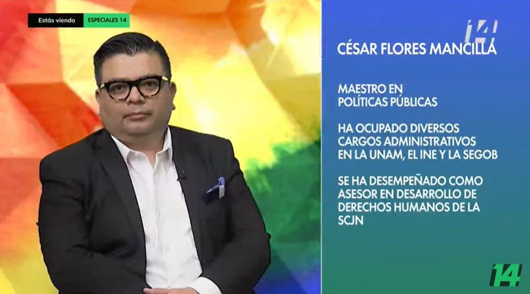 Imagen de César para el programa Canal 14