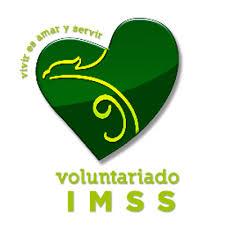 Logotipo de Voluntariado IMSS. Su eslogan es