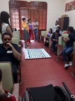 Exposición de personas participantes en el taller