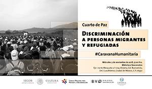 Imagen alusiva al cuarto de paz sobre discriminación a migrantes
